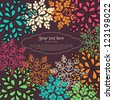 Invitation card on background with floral pattern in vector - stock vector