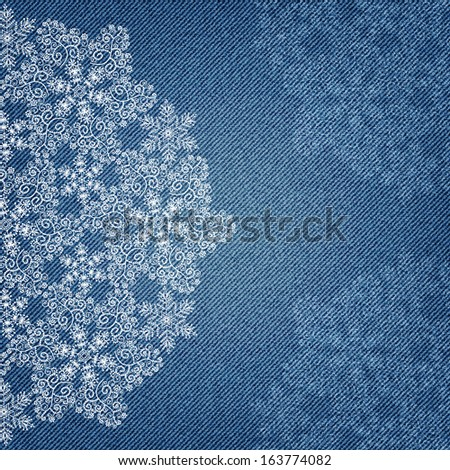 Invitation card on denim background excellent stock photo photo invitation card on denim background with excellent snowflake ornament in vector eps 10 christmas background stopboris Choice Image