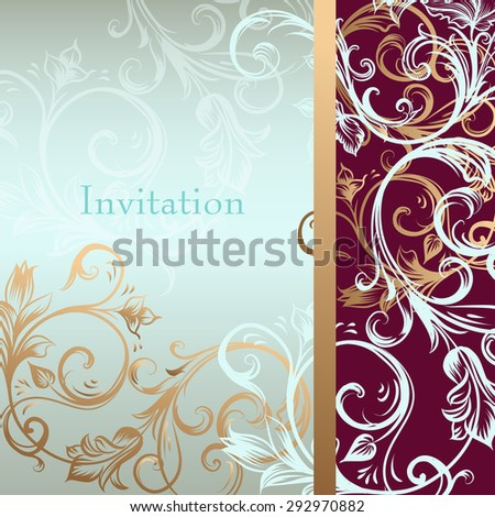 Invitation card or background in luxury style - stock vector