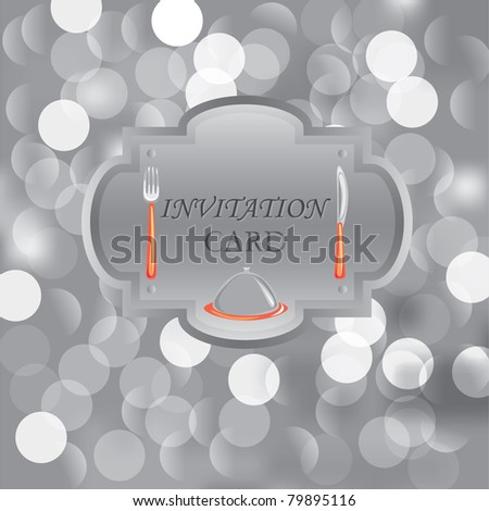 Invitation card. Restaurant menu - stock vector