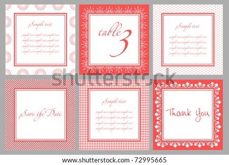 Invitation card template for wedding, birthday, anniversary