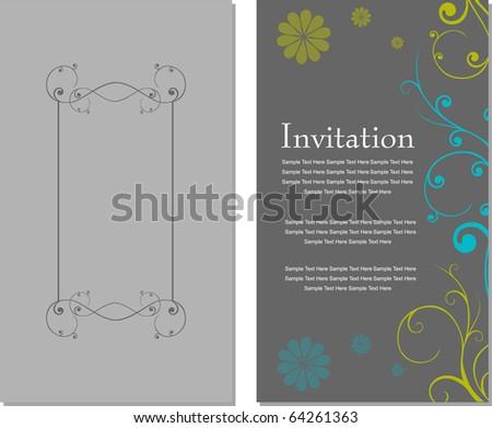 Invitation card template Vintage - stock vector