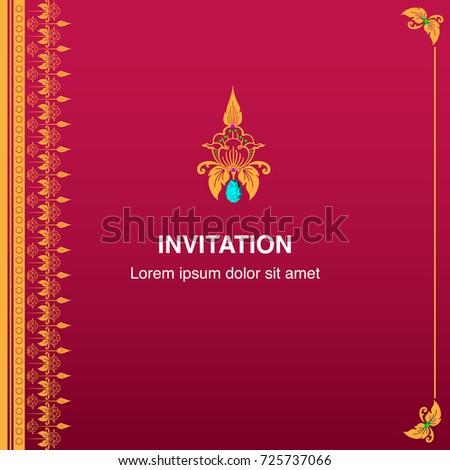 Invitation Card Congratulation Frame Border Design Vector – Invitation Card Border Design