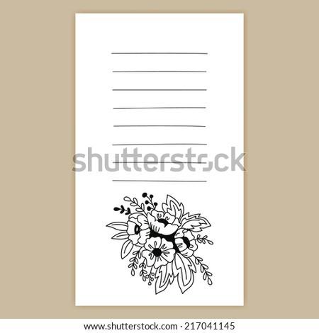 Invitation Card Flowers Good Birthday Cards Stock Vector 2018