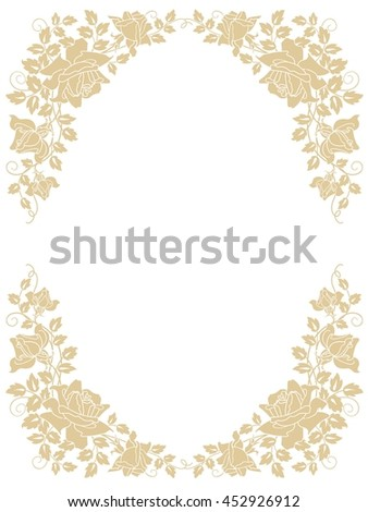 invitation card with  roses  - stock vector