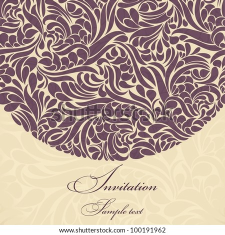 Invitation cards burgundy baroque