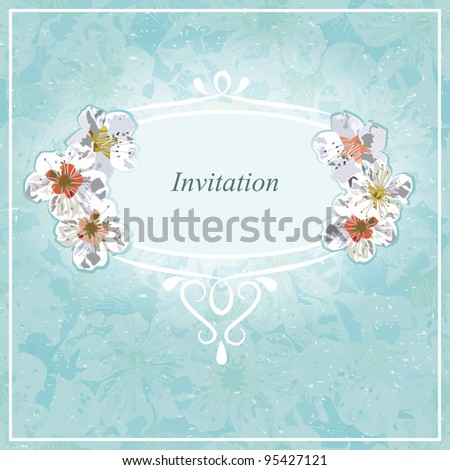 Invitation for wedding, shower, baby event, special occasion. EPS 10 vector illustration - stock vector