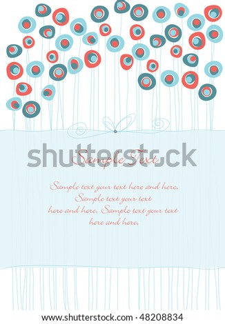 Invitation or greeting card panel - stock vector