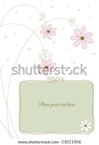 Invitation or greeting panel - stock vector