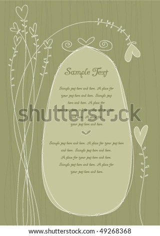 Invitation panel, use for weddings, showers, parties etc Text easily removed for your own - stock vector