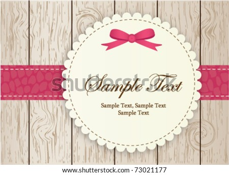 invitation-pink - stock vector