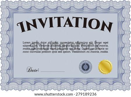 Invitation. Retro design. Complex background. Customizable, Easy to edit and change colors. - stock vector