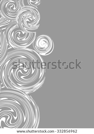 Invitation, Swirling hand drawn vector drawing with space for Your text - stock vector