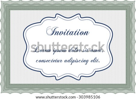 Invitation template. Customizable, Easy to edit and change colors.Cordial design. With complex background.  - stock vector