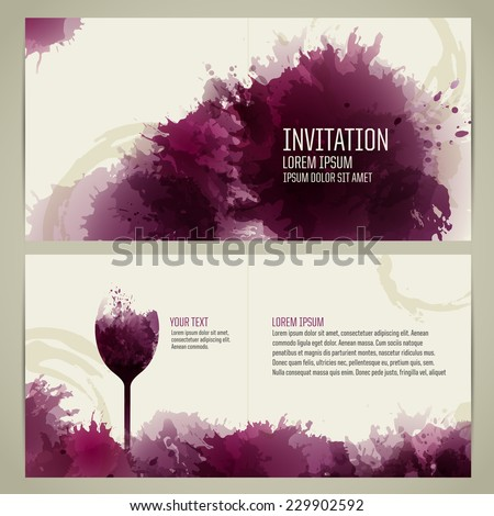 invitation template event party suitable tasting stock vector