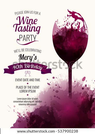 Invitation template event party wine promotion stock vector invitation template event party wine promotion stock vector 537900238 shutterstock stopboris Choice Image