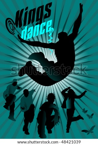 invitation to a party in the style of hip hop; - stock vector