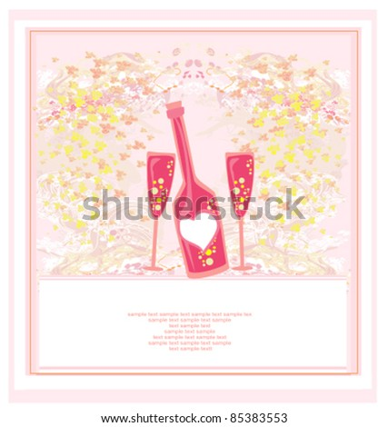 Invitation To Birthday Cocktail Party - stock vector