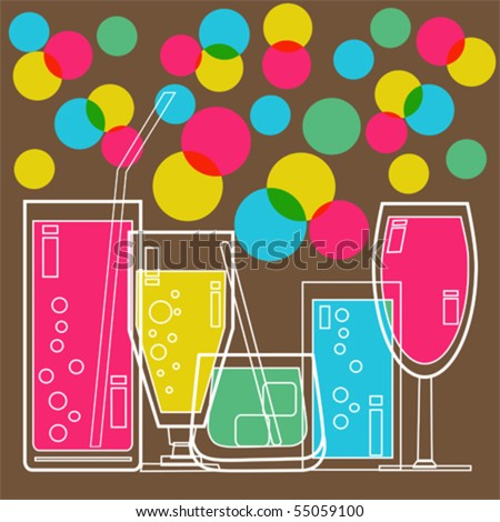 Invitation to Cocktail party vector - stock vector