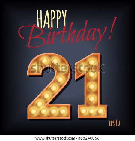 St Birthday Background Stock Images RoyaltyFree Images - 21st birthday invitation card background