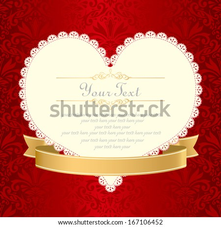 Invitation vintage label vector frame stock vector 167106452 invitation vintage label vector frame stopboris Image collections