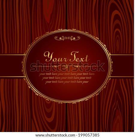 Invitation vintage label vector frame stock vector 199057385 invitation vintage label vector frame stopboris Choice Image