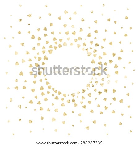 Invitation Wedding Card Metal Heart Confetti Stock Vector HD