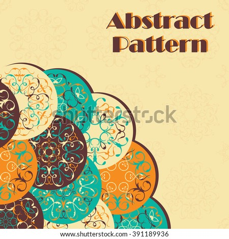 Invitation with trendy colored abstract circles. Floral design      - stock vector