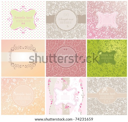 Invitations - stock vector