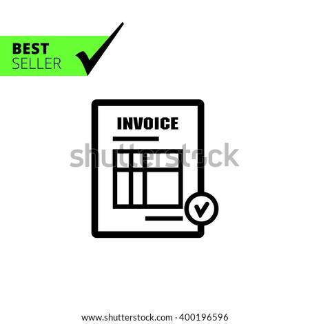 Invoice icon - stock vector