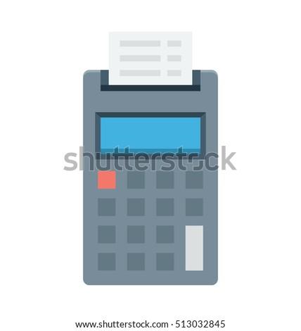 Invoice Machine Vector Icon Stock Vector HD Royalty Free - Invoice machine
