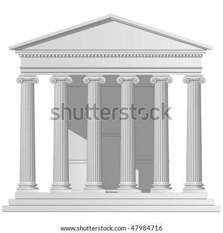 Ionic Temple - stock vector