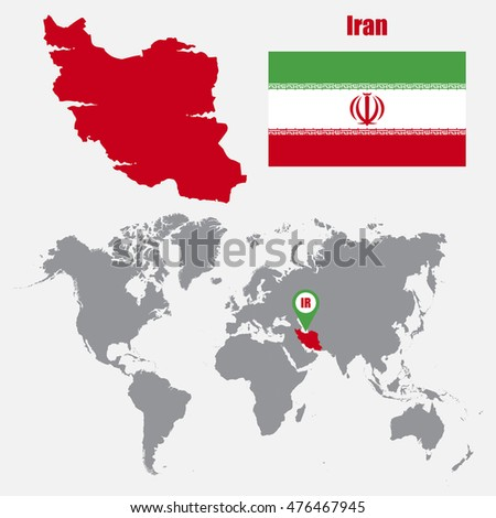 Iran map on world map flag stock vector 476467945 shutterstock iran map on a world map with flag and map pointer vector illustration gumiabroncs Gallery