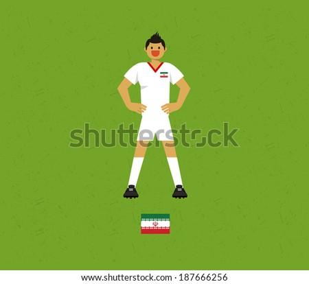 Iran Soccer Tables - stock vector