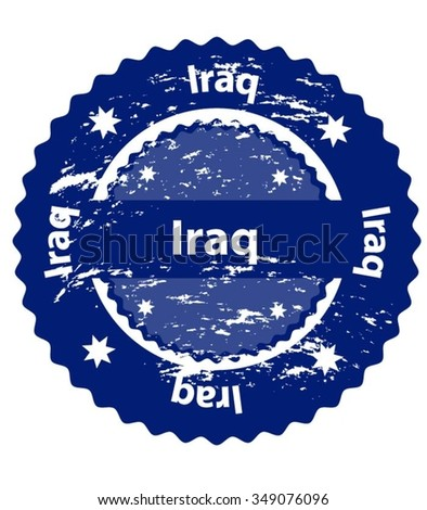 Iraq Country Grunge Stamp - stock vector