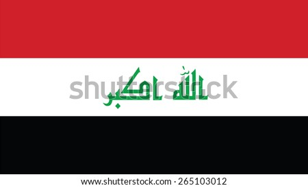 iraq Flag for Independence Day and infographic Vector illustration. - stock vector