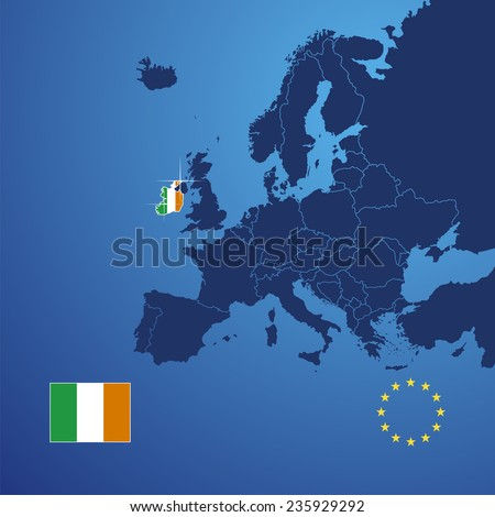 Ireland map cover vector - stock vector
