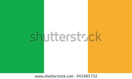 Ireland national flag. Vector EPS8 - stock vector