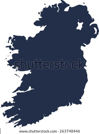 Ireland Vector map. High detailed.  - stock vector