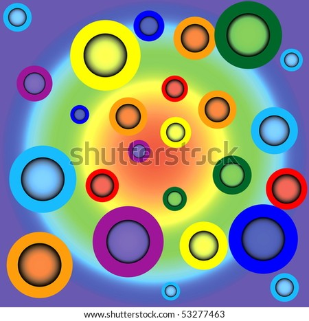 Iridescent background in the form of circles