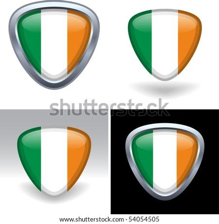 Irish Flag Crest - stock vector