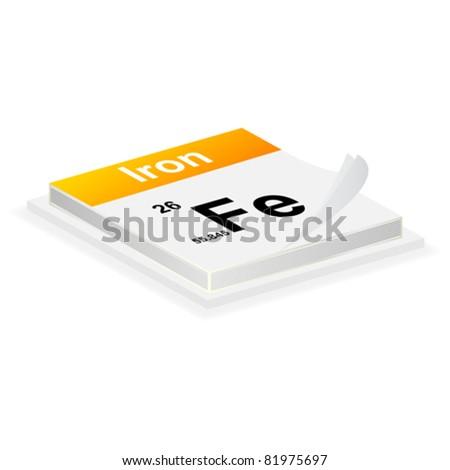 iron button - stock vector