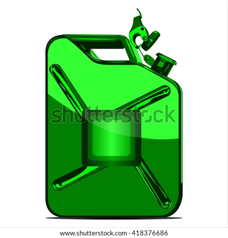 iron canister for fuel on white background vector - stock vector
