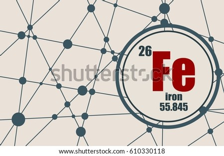 Iron chemical element sign atomic number stock vector 2018 iron chemical element sign with atomic number and atomic weight chemical element of periodic urtaz Images