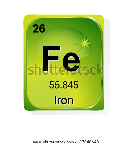 Iron Chemical Element Atomic Number Symbol Stock Vector 167048648