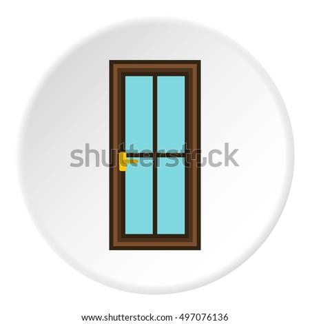 Iron door icon. Flat illustration of iron door vector icon for web