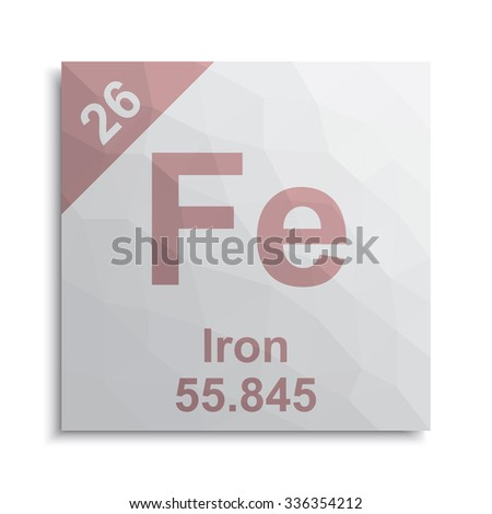 Periodic elements stock images royalty free images vectors shutterstock - Iron on the periodic table ...