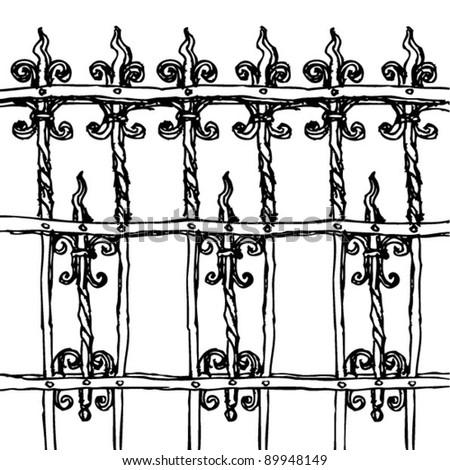 Metal Fence Drawing