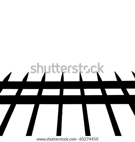 Iron fence. Vector. - stock vector