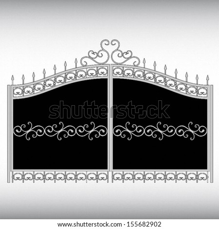 Iron Gate - stock vector